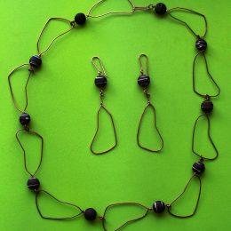 Collar y pulsera alambrarte14