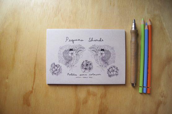 Pequeña Sharde, postales para colorear